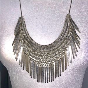 Jewelry - 🎀GORGEOUS SILVER TONE STATEMENT NECKLACE 28 INCH